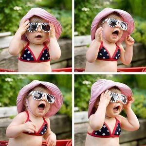 ♥️💵 3 FOR $10!!! Stars & Stripes Baby Gap bikini!